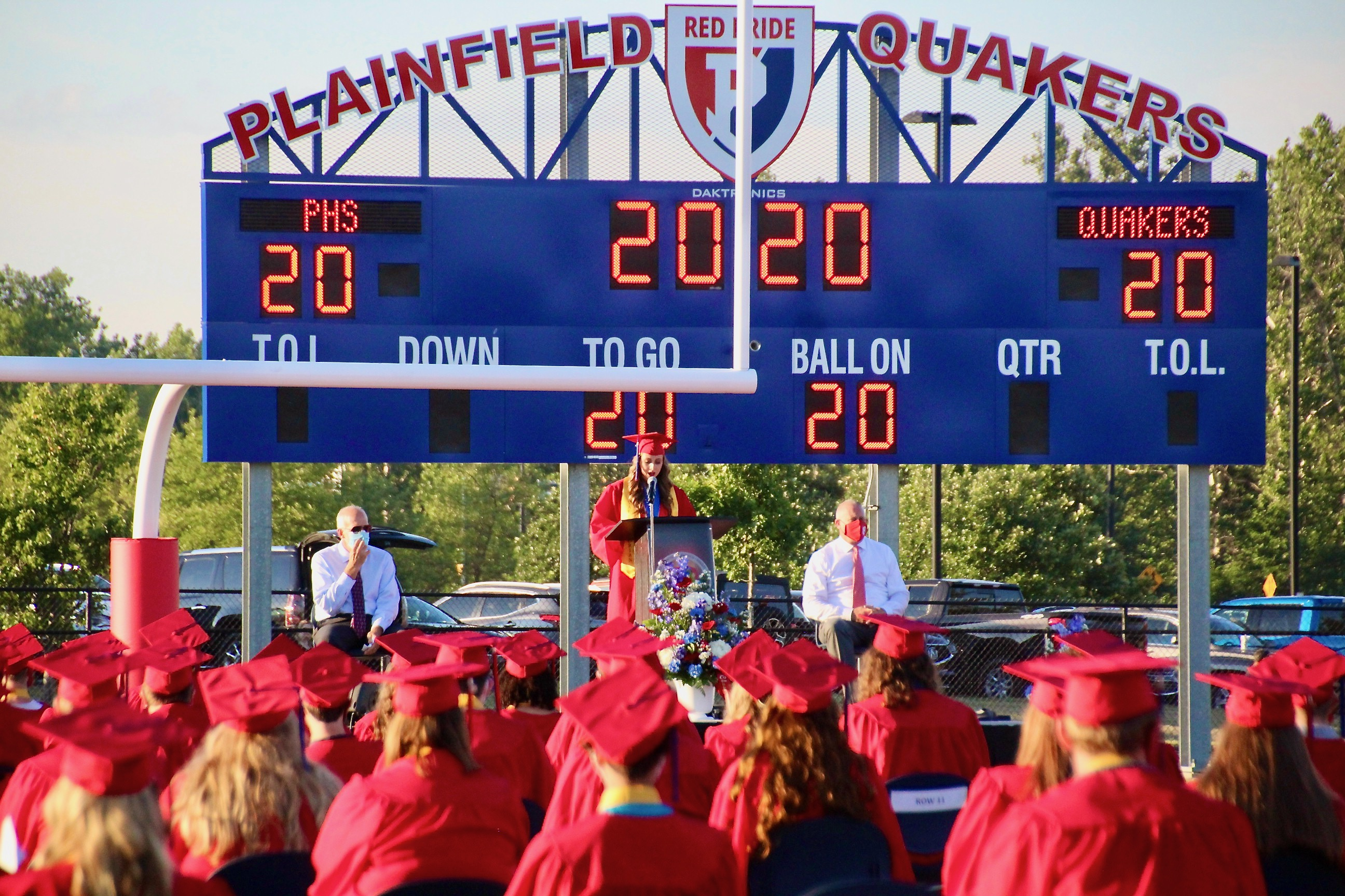 With a commitment to the Class of '20, Commencement was held, in July, on the football field. It was a beautiful celebration of an outstanding group of new graduates.