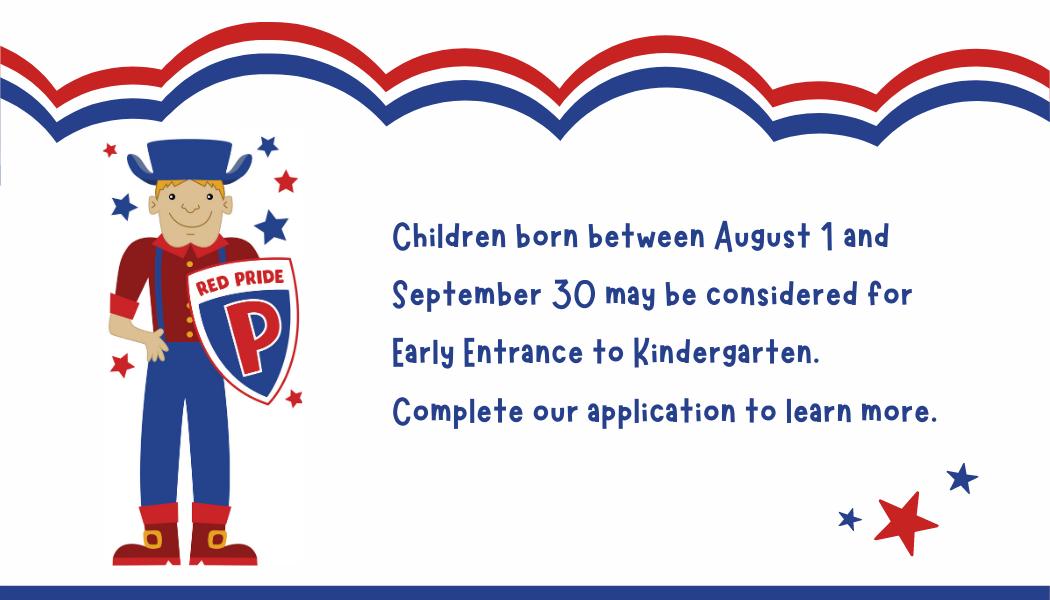 Early Entrance to Kindergarten information