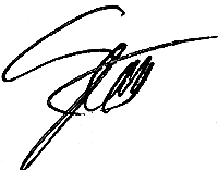 Scott Flood, President signature