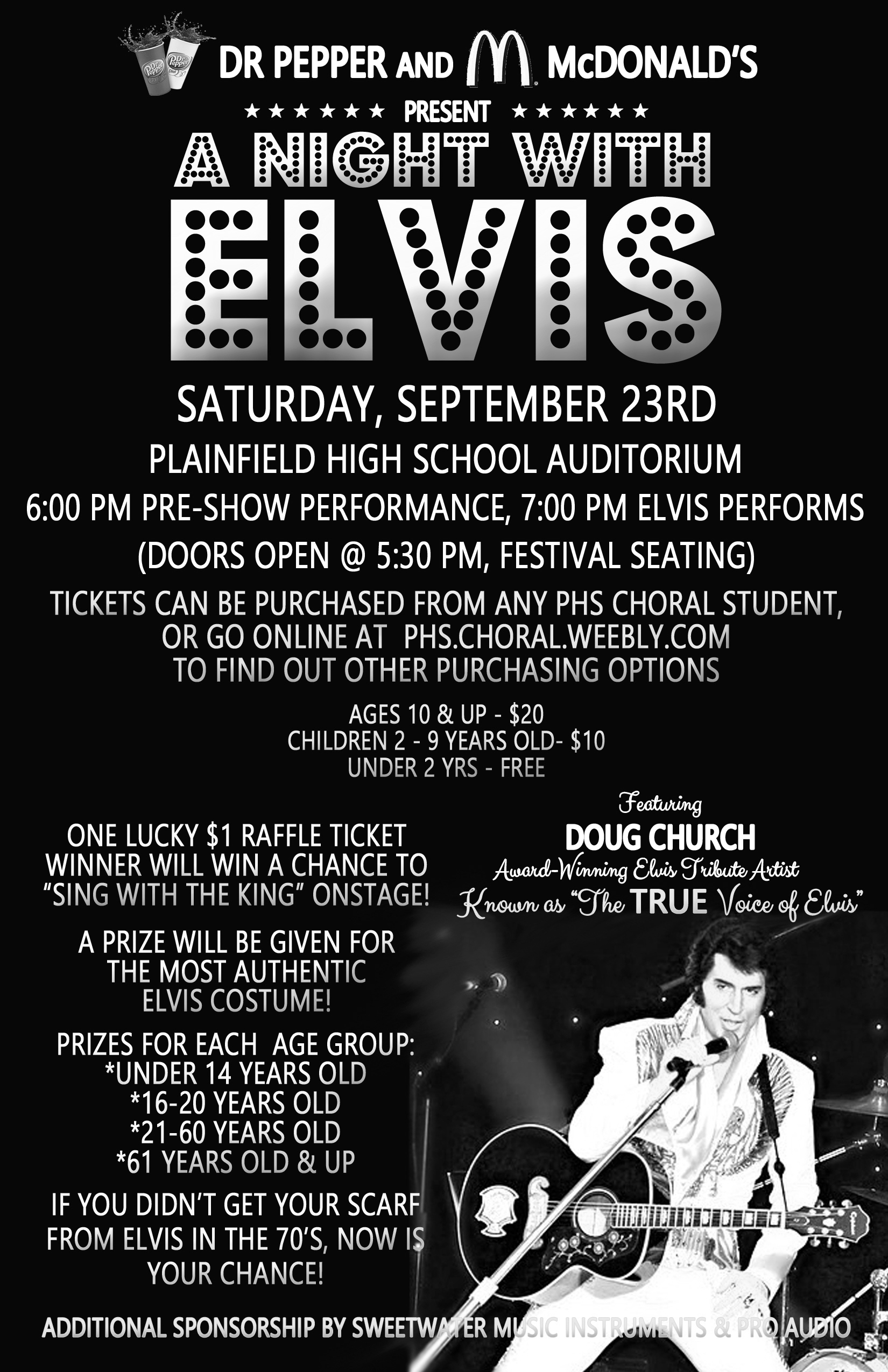 a night with elvis flyer