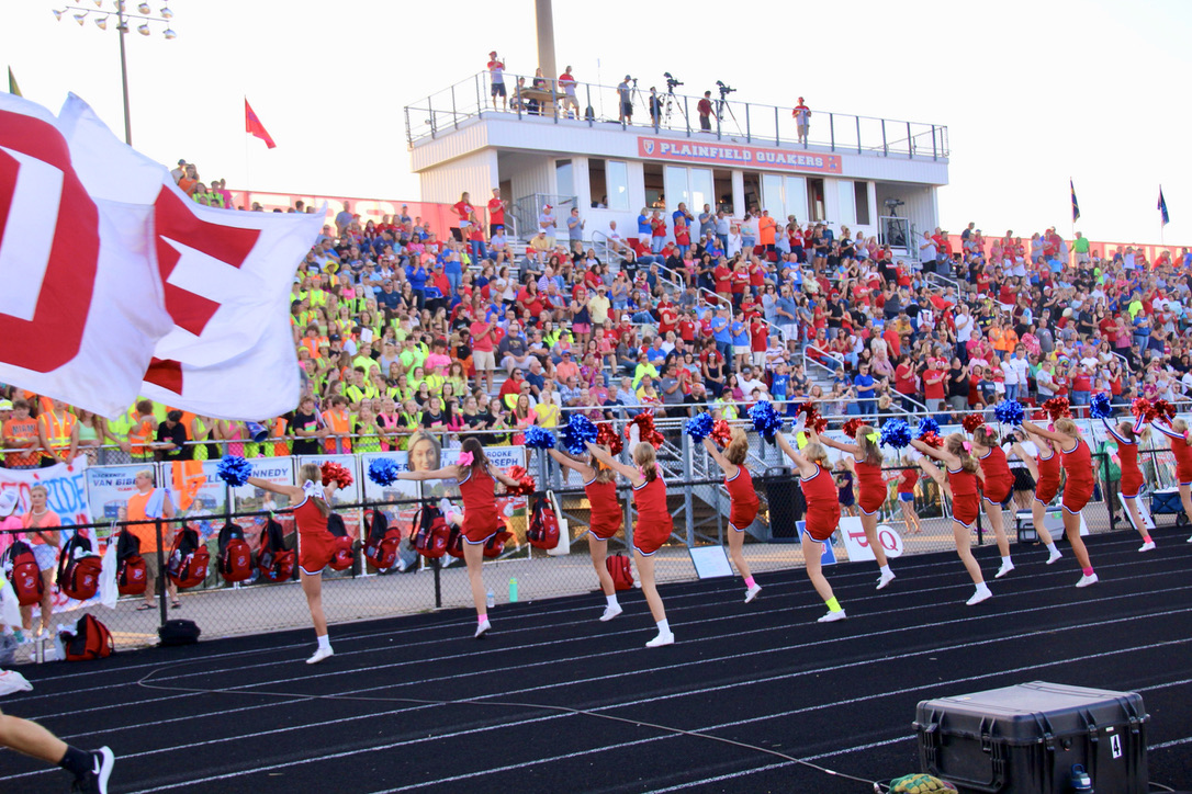 Enthusiastic crowd at the Homecoming game