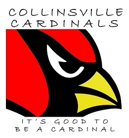 COLLINSVILLE CARDINALS - LOGO - IT'S GOOD TO BE A CARDINAL