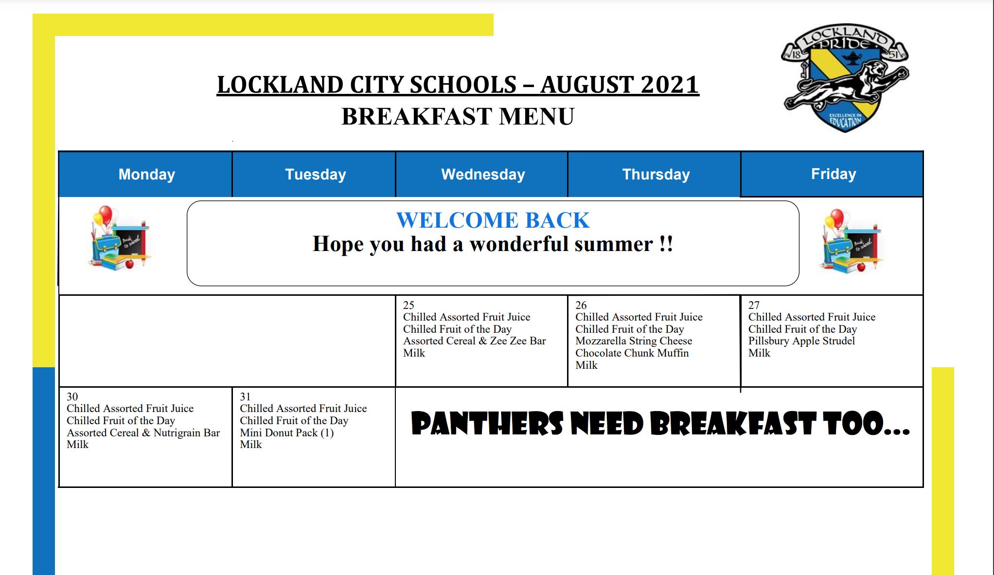 Lockland August 21 Breakfast