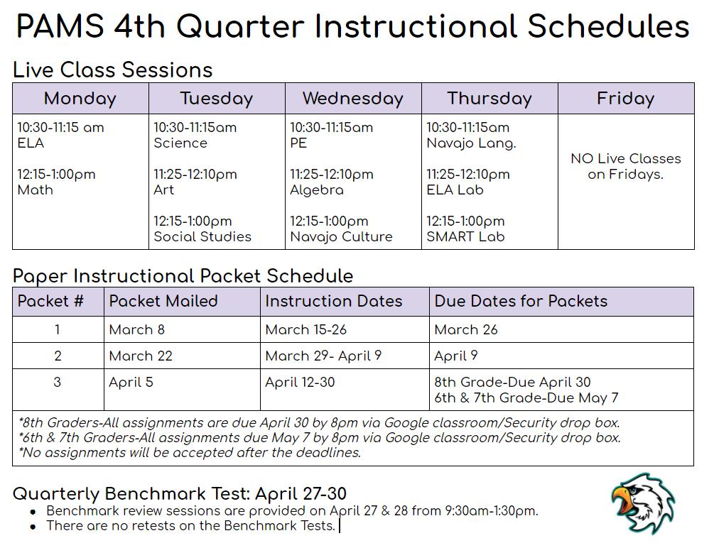 Instructional schedules