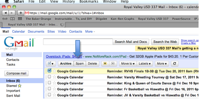 Google Mail Screenshot