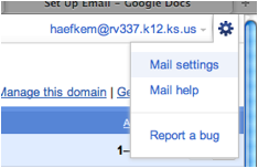 Settings in the Gmail