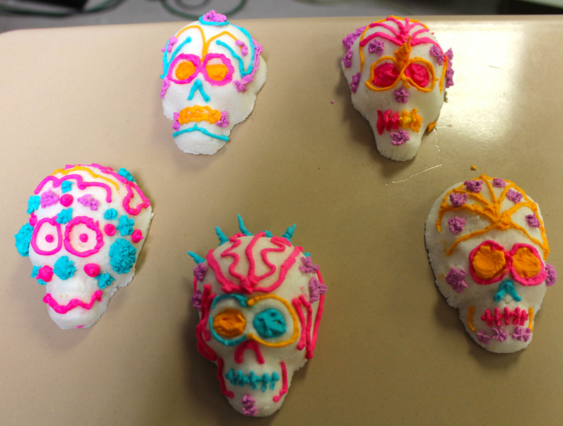 Photo of a traditional Mexican candy during Dia de Muertos