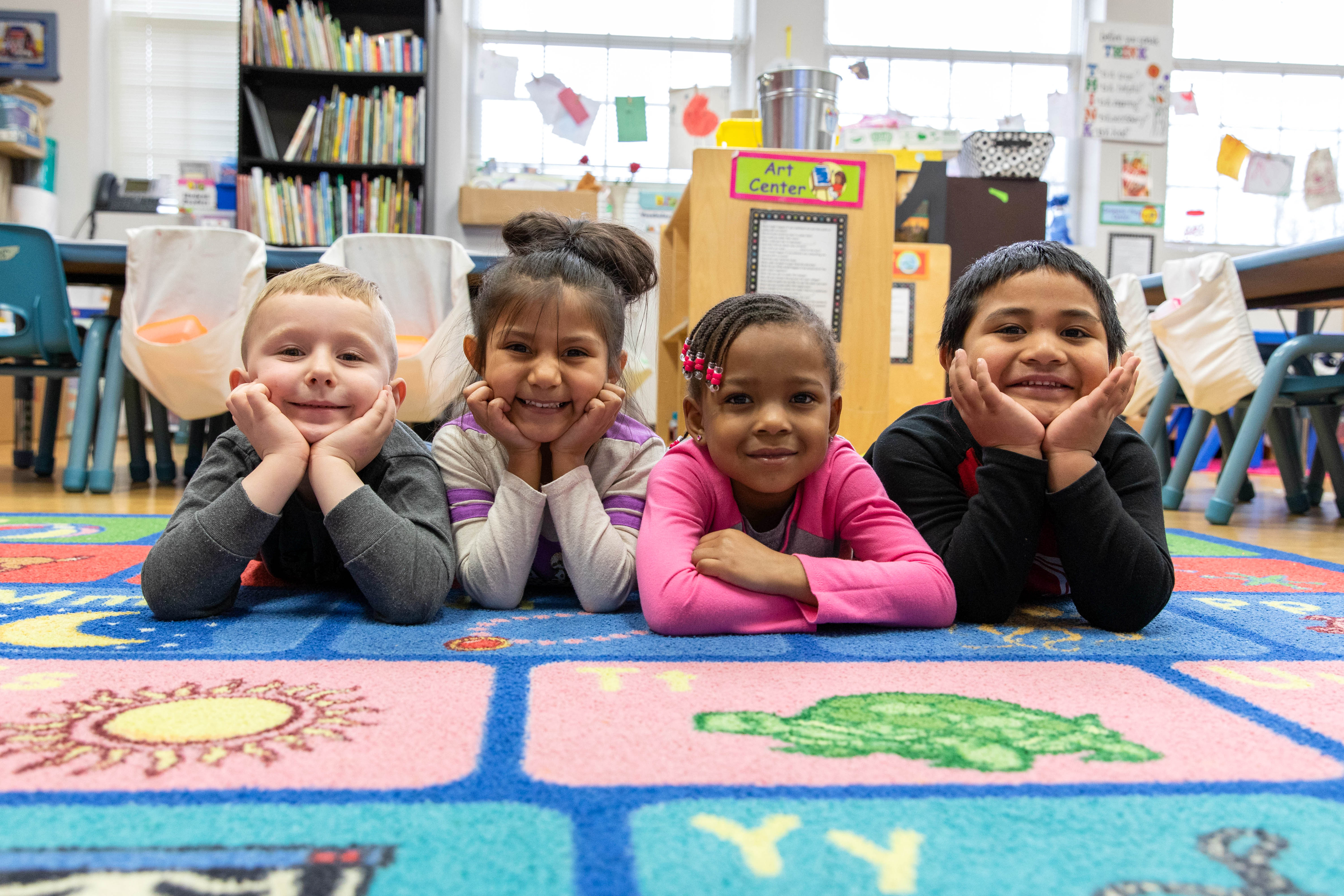 Photo of some students in Pre-K.