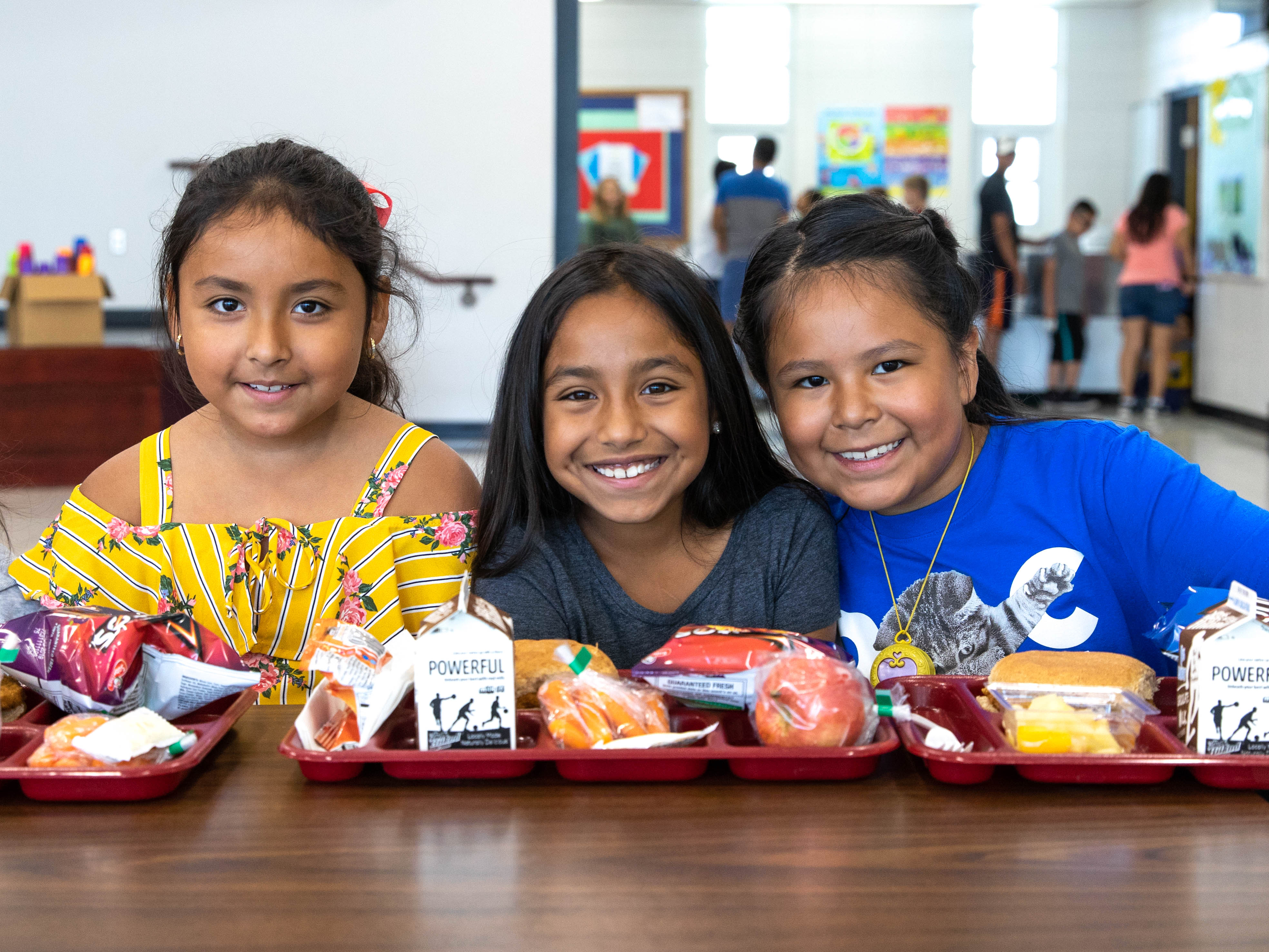 Photo of some students in the cafeteria.
