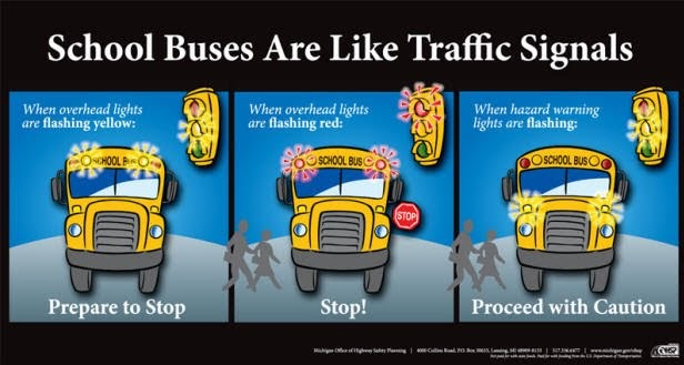 Info graphic on bus safety