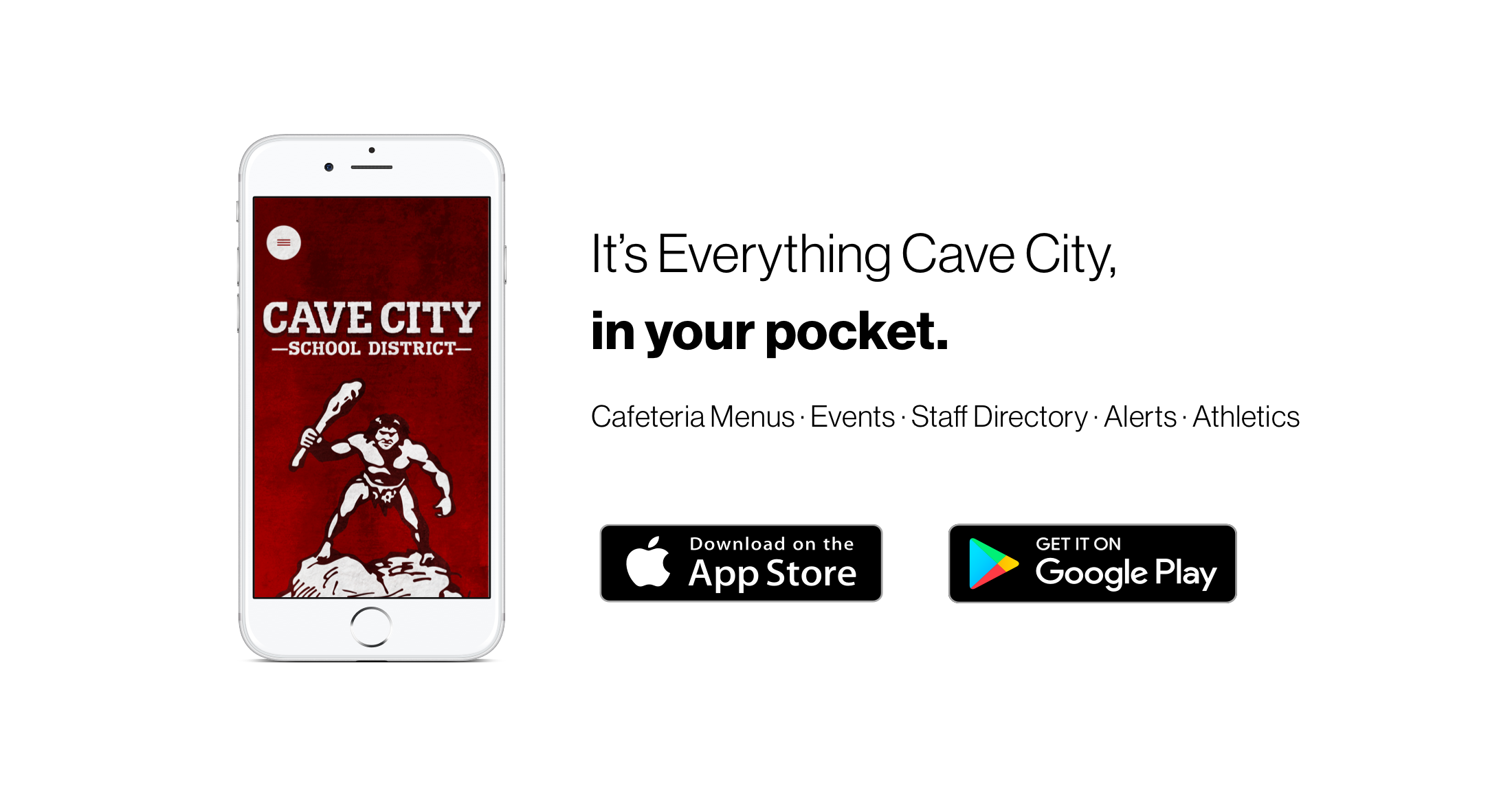 mobile app promo for cave city - download today