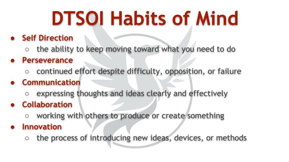 DTSOI Habits of Mind info