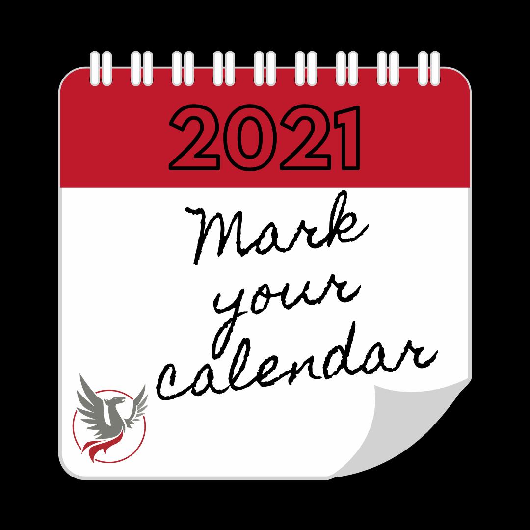 2020 Mark your calendar