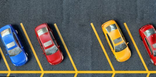 Photo of a parking space.
