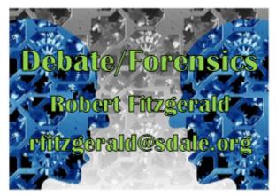 Debate Forensics - Robert Fitzgerald - rfitzgerald@sdale.org