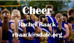 Cheer - Racher Baack - rbaack@sdale.org