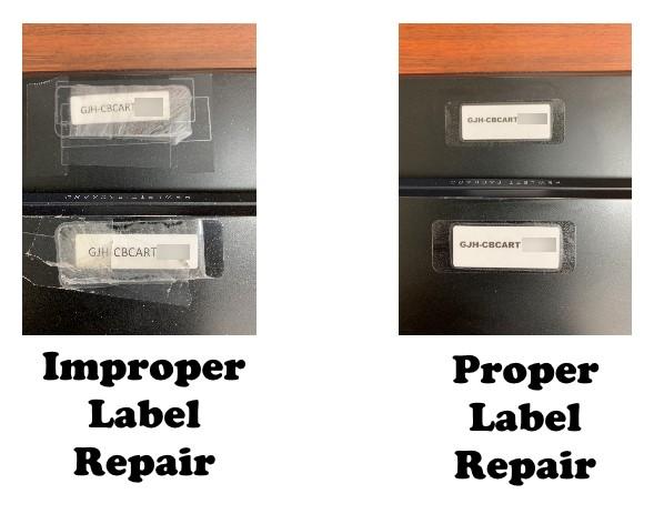 Proper Label Repair images