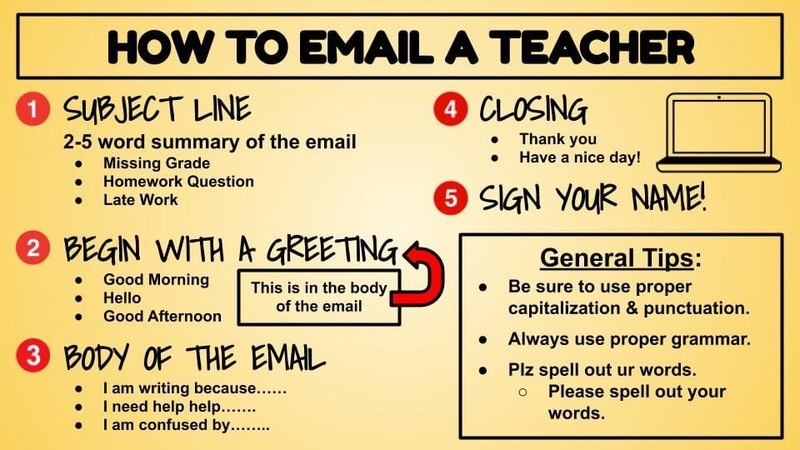 How to Email a Teacher Info