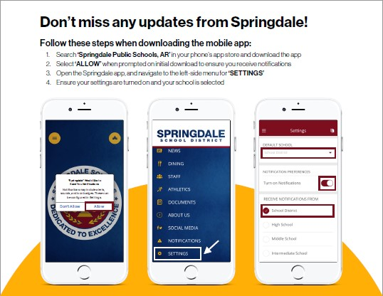 Updates from Springdale info