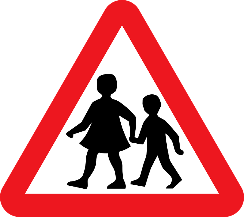 School Children - Traffic sign