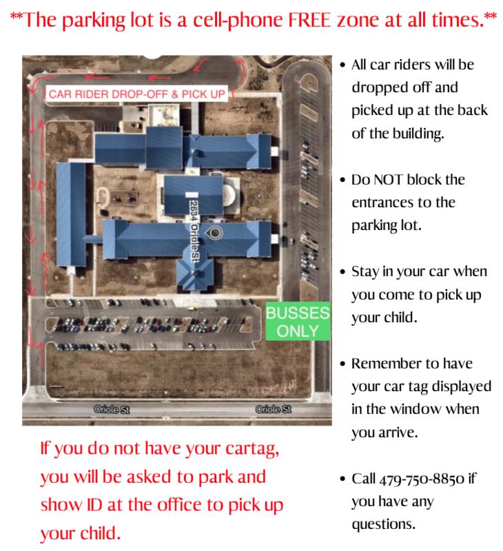 Parking & Drop Off map