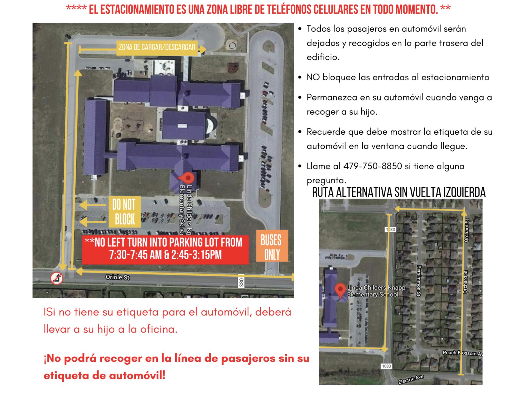 Spanish Parking Lot Map