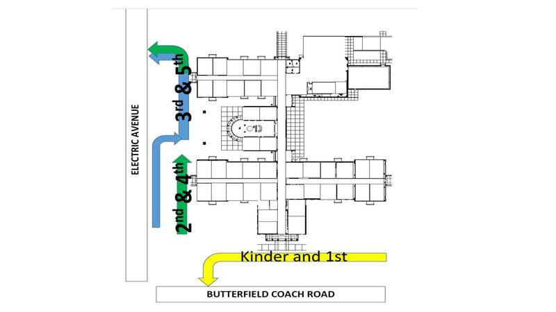 Car Rider Drop off and Pick Up Map