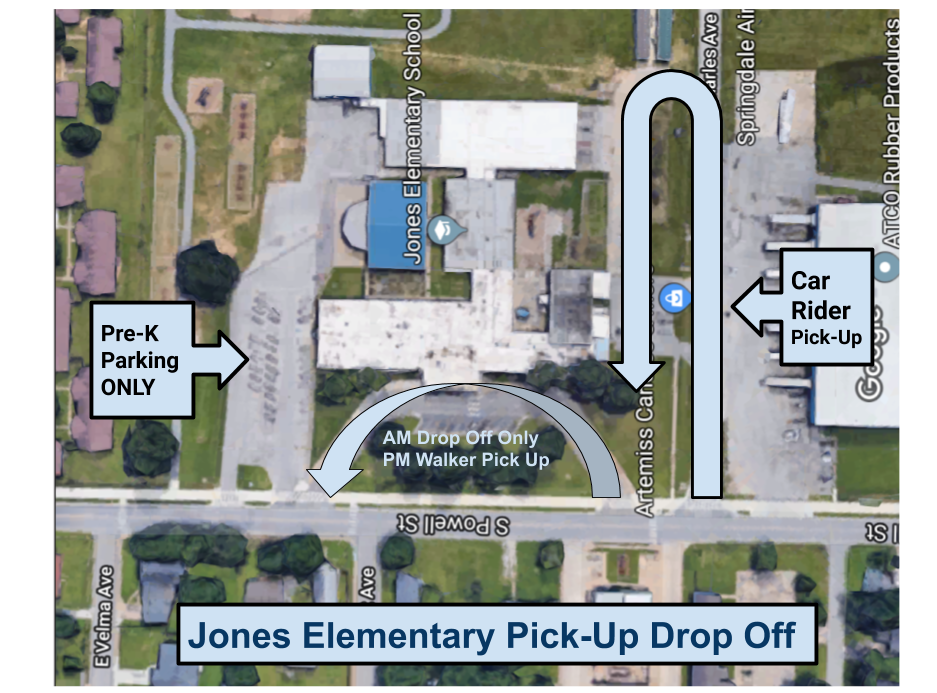 Jones Elementary Pick-Up Drop Off
