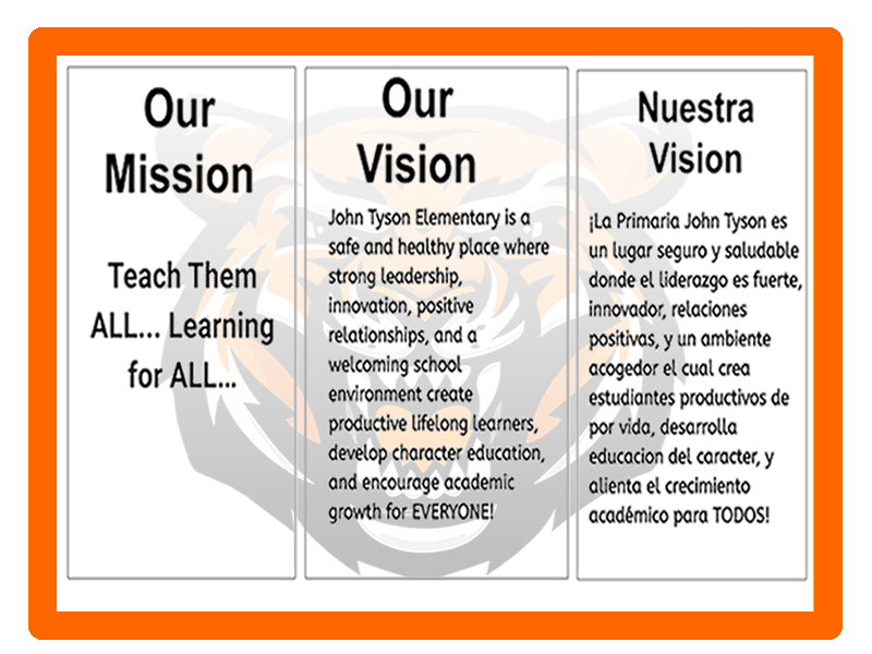 Our Mission - Our Vision - Nuestra Vision