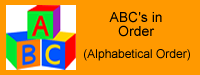 ABC's in Order