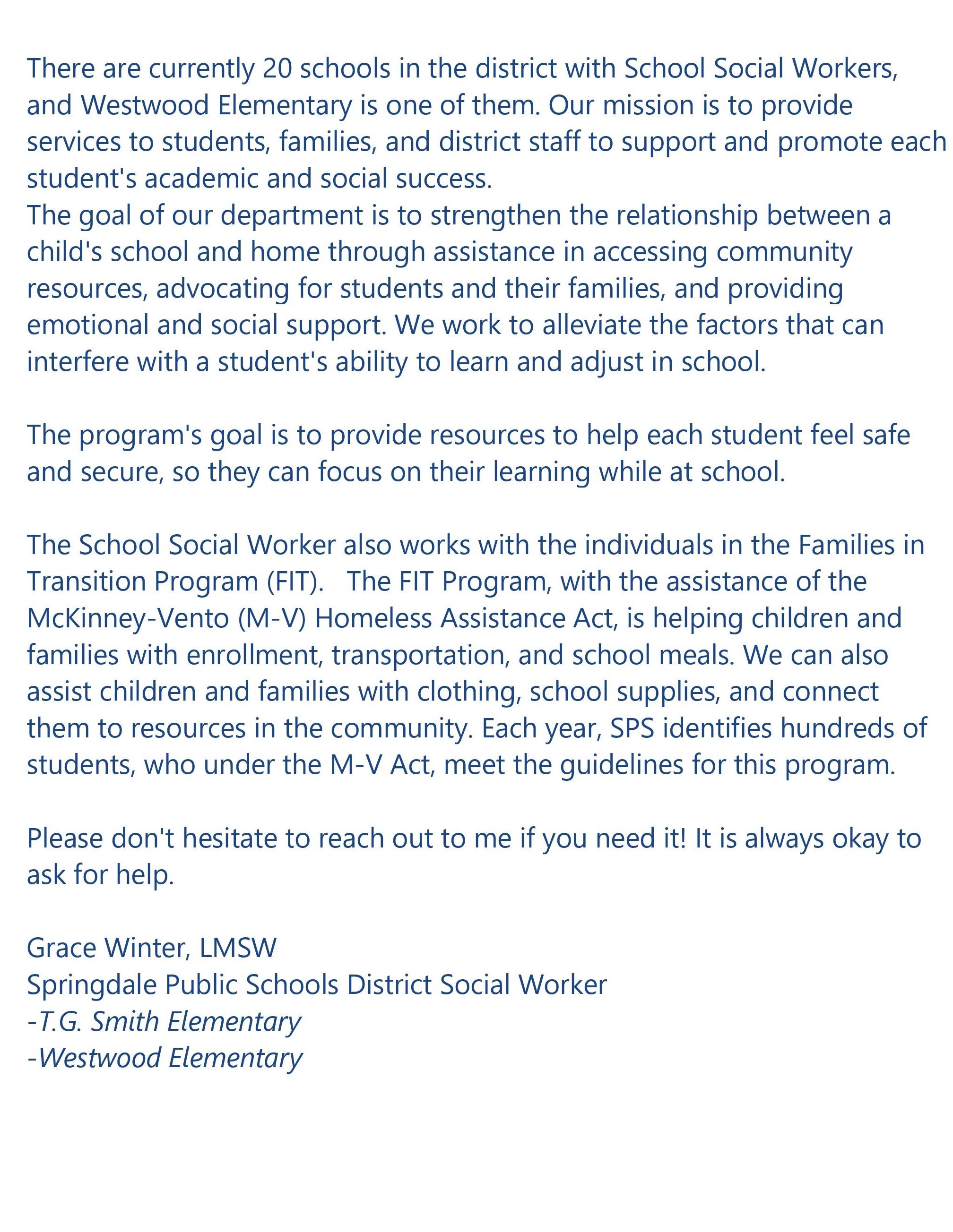 Social workers info