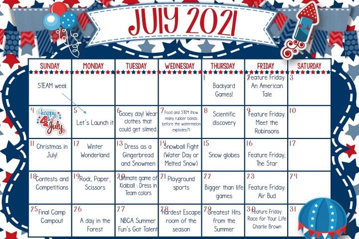 July Theme Weeks 2021