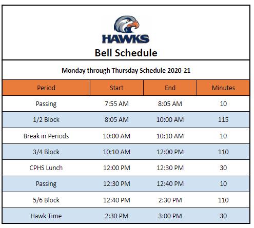 Full Return Bell Schedule