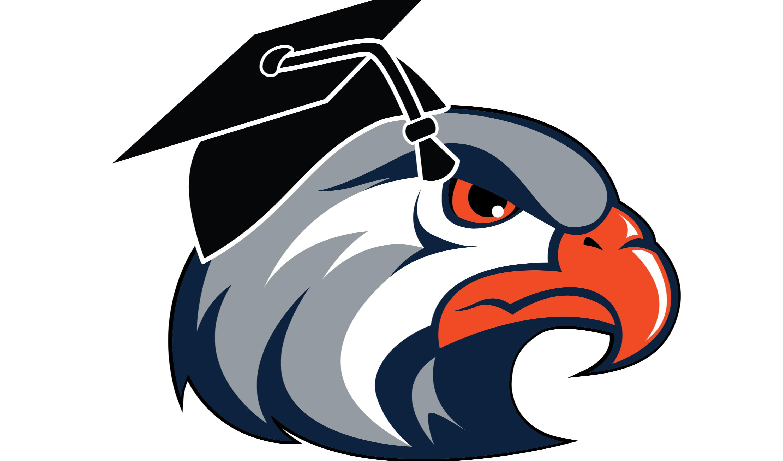 eagle head with graduation cap