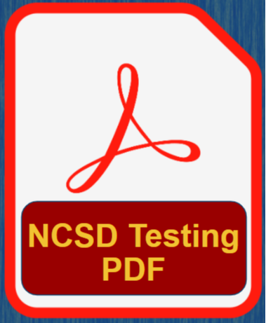 NCSD Testing Calendar - PDF