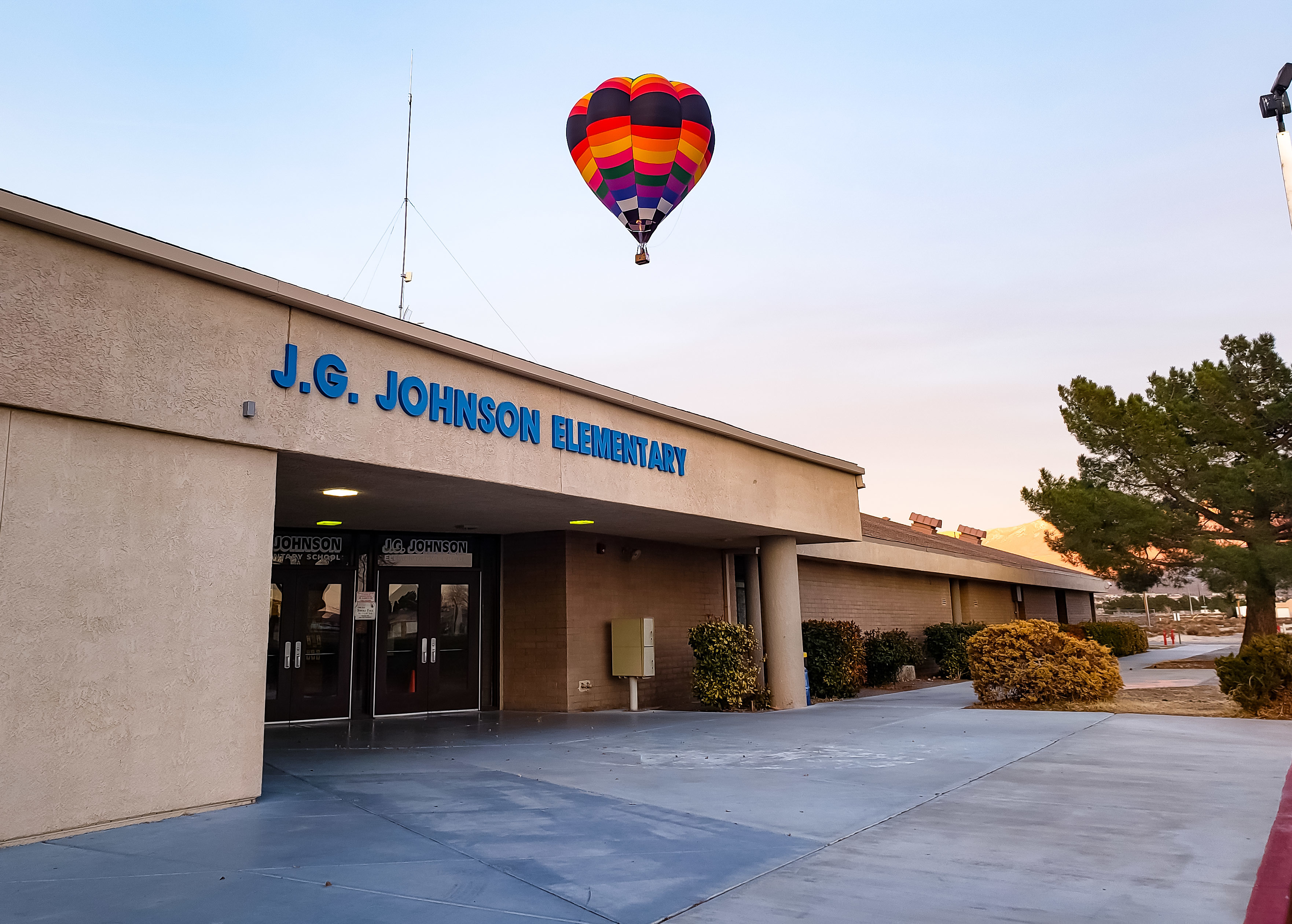 The front of J.G. Johnson
