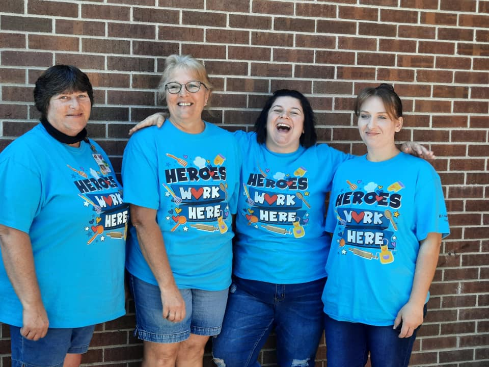 SMS Food Service: Shaneen Lockman, Sandy Spahn, Megan Tompkins and Staci Troutman