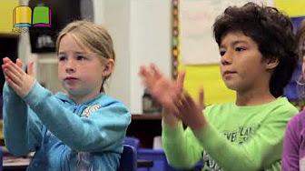 Kids doing sign language