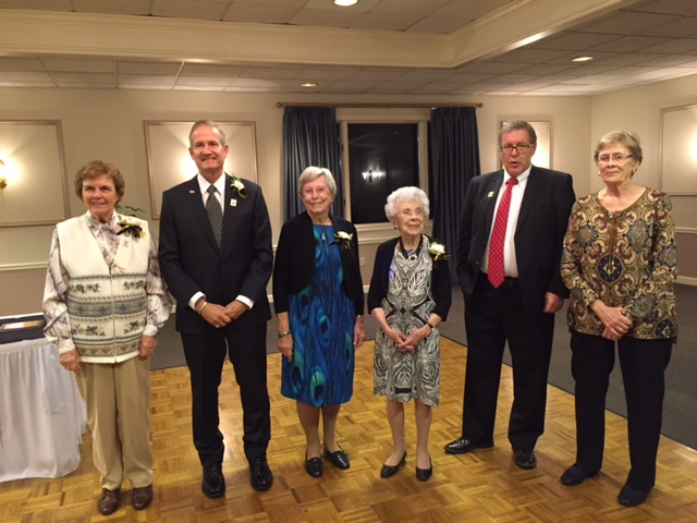 Katherine Beaver, David Grzelak, Marjorie McLean, Shirley Westcott,Joe Sholtis ISDF Board member, and Donna Sedelmeyer accepting for her brother, Howard Roth.