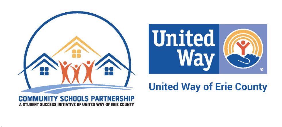 Community Schools Partnership and United Way of Erie County logos