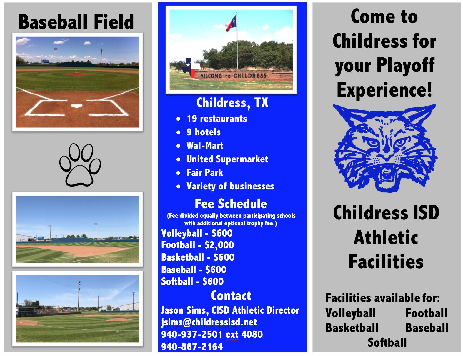 Athletic Facilities information
