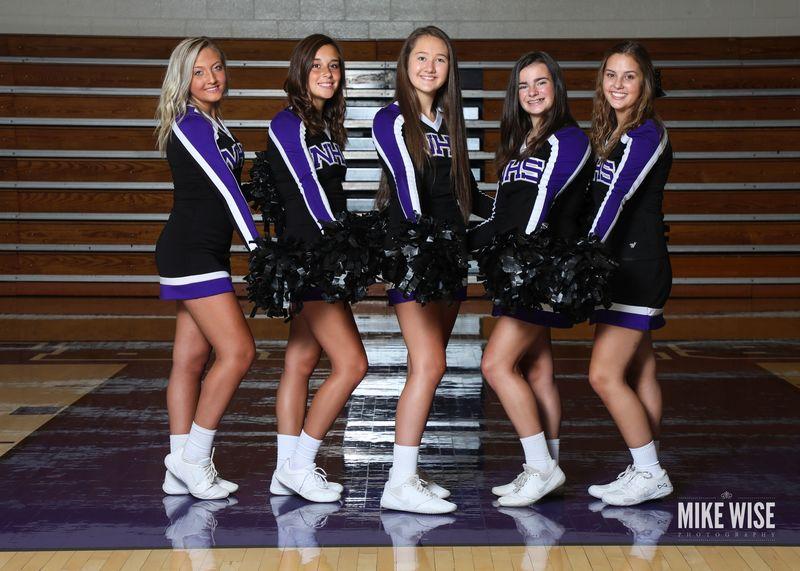 Photo of the 2019-2020 JV Cheer team.