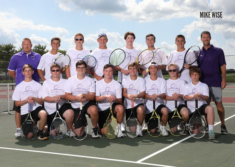Photo of the 2019-2020 Boys Tennis team.