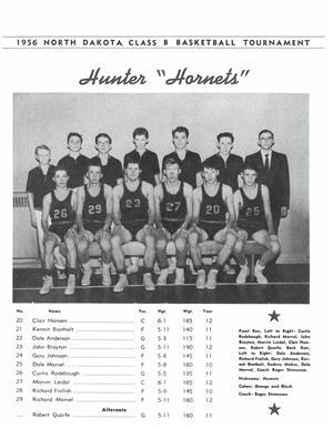 1956 Hunter Hornets Boy's Basketball