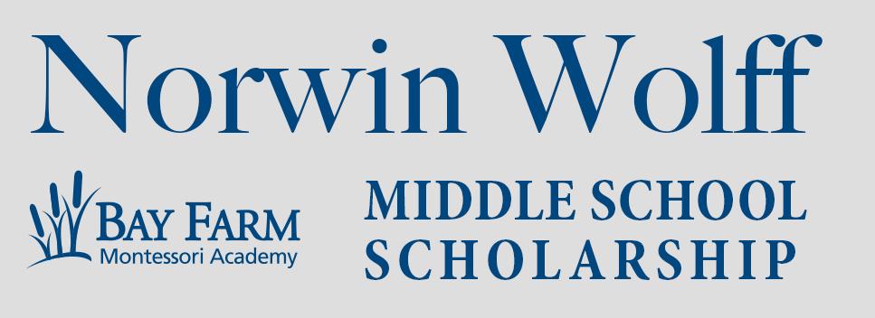 Middle School Scholarship 2021