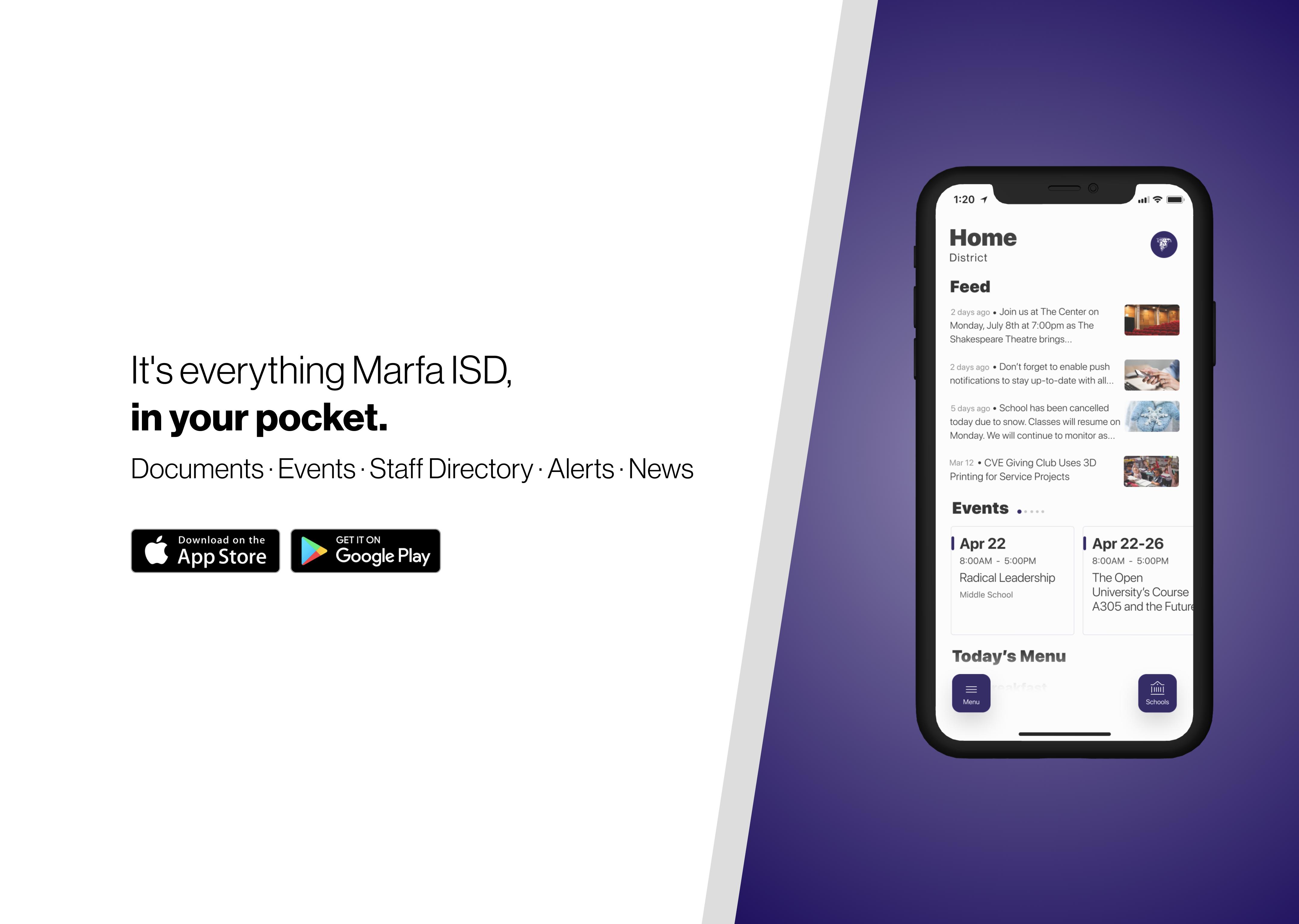 Marfa ISD App Update Banner