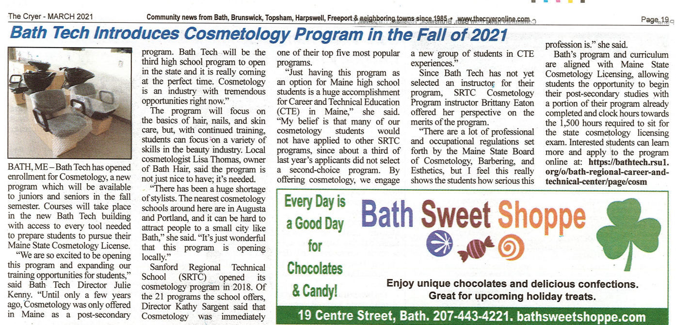 Cosmetology Article March 2020
