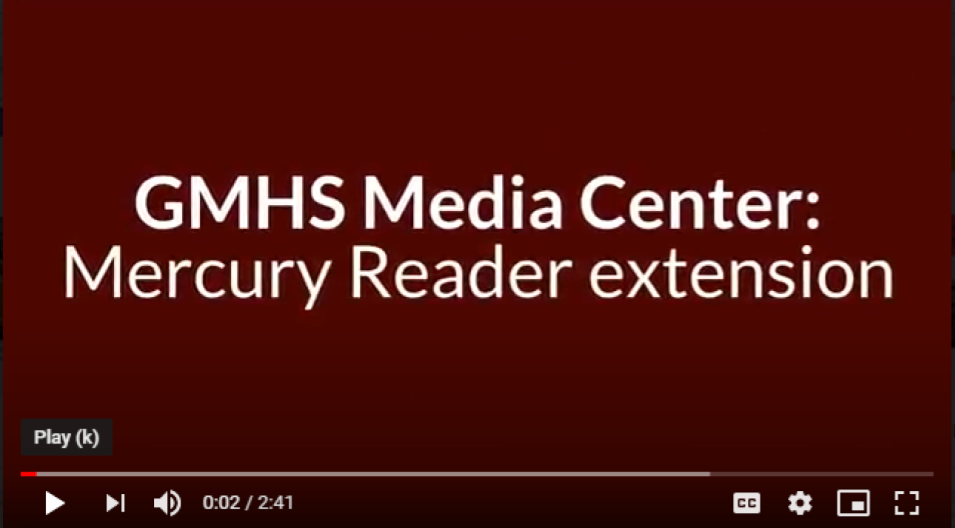 Mercury Reader Extension