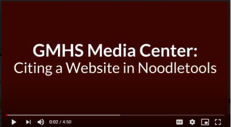 Citing a Website in NoodleTools