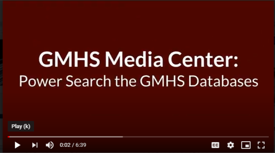 Power Search the GMHS Databases